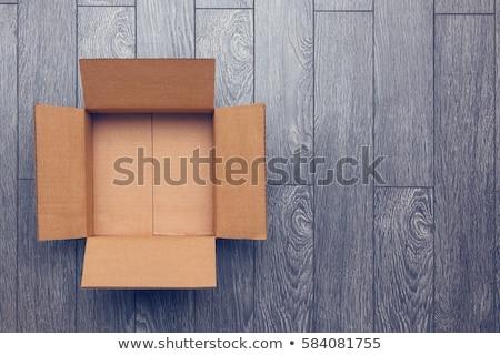 Frete grátis caixa entrega fechado isolado Foto stock © pakete
