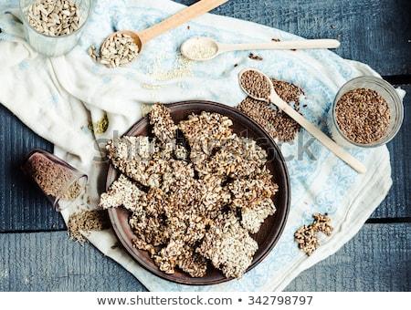 Szezámmag teljeskiőrlésű búza szezámmag aprított gyógynövények étel Stock fotó © Digifoodstock