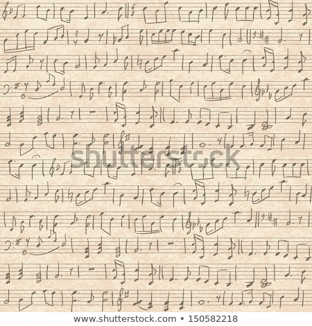 music sheet on old paper seamless pattern stock photo © evgeny89