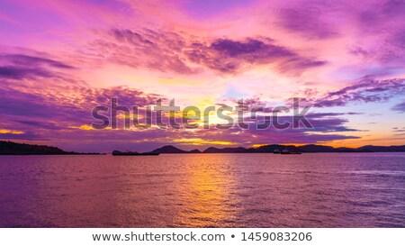 Naplemente idő kilátás pont tengeri kilátás tenger Stock fotó © bank215