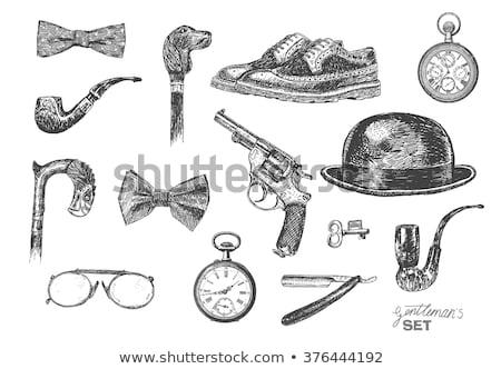vector hand drawn revolver illustration Stock photo © TRIKONA