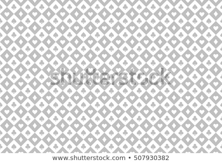 Minimalistic light grey poker background with seamless texture composed from card symbols Stock photo © liliwhite