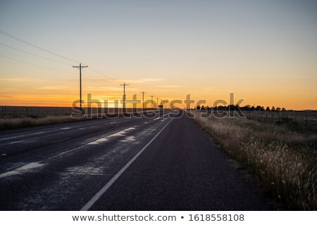 country road with power line stock photo © karpenkovdenis