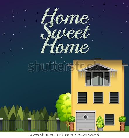 Mansion night vector illustration clip-art image  Stock photo © vectorworks51