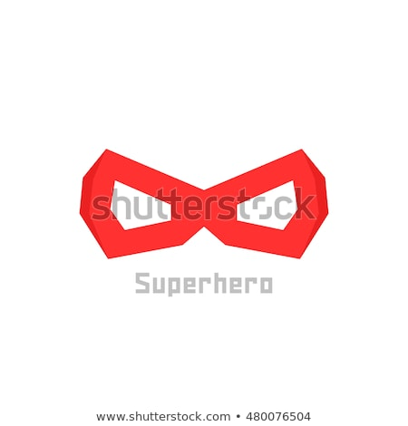head in mask mask hero logo flat style icon vector illustrat stock photo © maryvalery