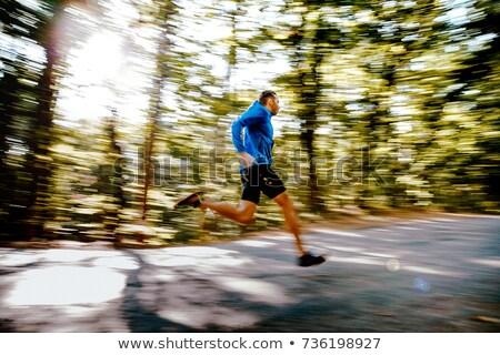 Movimento fitness homens corrida Foto stock © ldambies