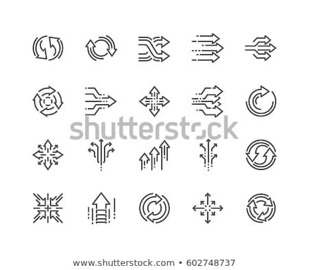 Abstract arrow icona isolato bianco business Foto d'archivio © cidepix
