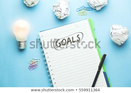 Set Goals List Concept Stock photo © ivelin