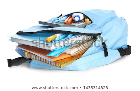 books and schoolbags on white background stock photo © bluering