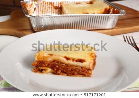 Porcellana lasagna pan entrambi clean piatto Foto d'archivio © Digifoodstock