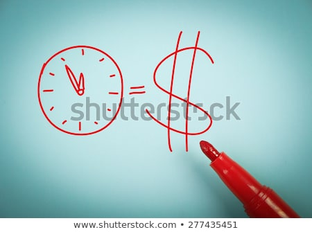 Time Money Concept Red Marker Stock photo © ivelin
