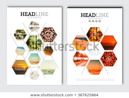 business magazine cover page template in a4 layout Stock photo © SArts