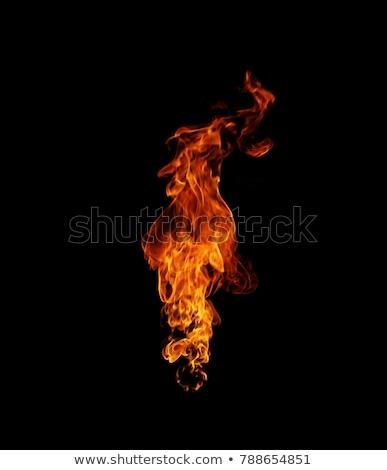 Fogo isolado preto fundo laranja vermelho Foto stock © cookelma