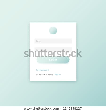 Minimalny login formularza szablon projektu stronie Zdjęcia stock © SArts