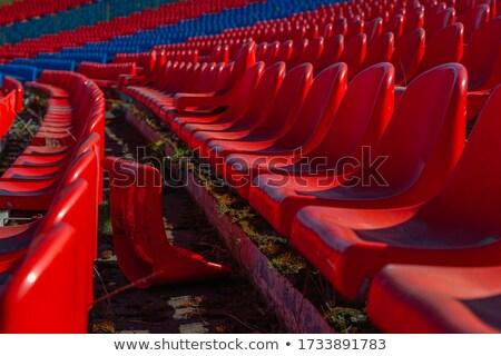 yeşil · boş · plastik · stadyum · kapıyı · açmak · spor - stok fotoğraf © chrisstephenson