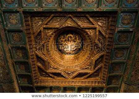 Dragão escultura árvore cúpula abaixo Foto stock © bezikus