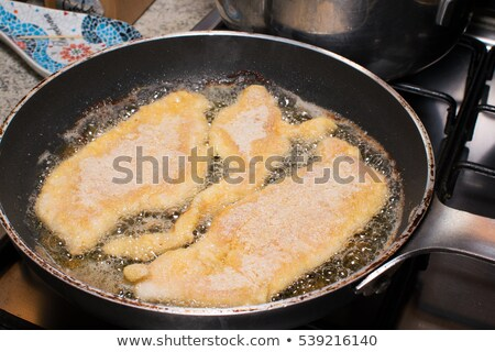Cotoletta of Veal in a Frying Pan Stock photo © monkey_business