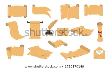 シート 古い紙 デザイン スタイル 古代 原稿 ストックフォト © robuart