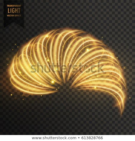 golden transoarent light effect of half ring Stock photo © SArts