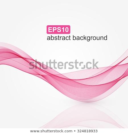 аннотация розовый волны копия пространства дизайна энергии Сток-фото © lenapix
