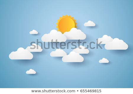 Paper cloud in origami style on the sky background Stock photo © m_pavlov