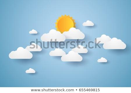 Kâğıt bulut origami stil gökyüzü bulutlar Stok fotoğraf © m_pavlov