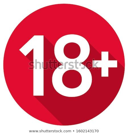 age restriction flat icon stock photo © smoki