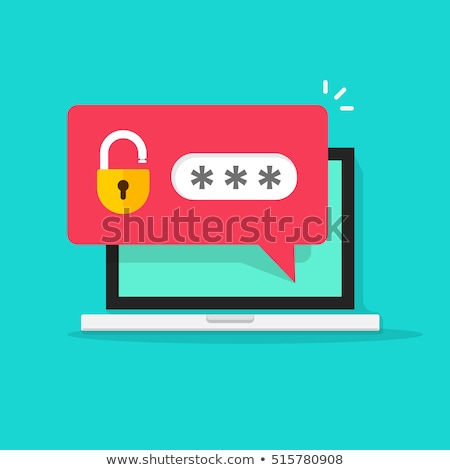 Personale accesso icona design sicurezza valigetta Foto d'archivio © WaD
