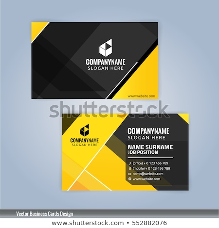 yellow and black business card design in clean minimal style Stock photo © SArts