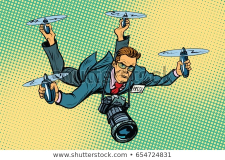People journalist quadcopter drone Stock photo © studiostoks