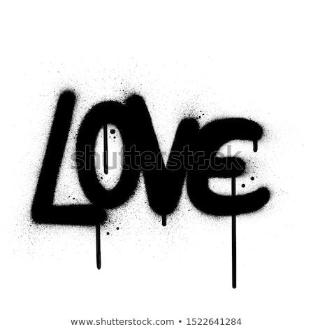 Graffiti charakter czarno białe spadek cartoon brudne Zdjęcia stock © Melvin07