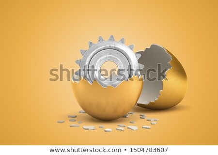 bakım · harç · altın · madeni · diş · dişliler - stok fotoğraf © tashatuvango