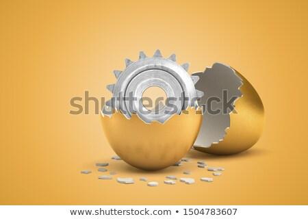 golden metallic cog gears with tools repair concept 3d illustration stock photo © tashatuvango