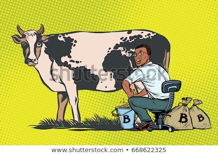 poule · électronique · argent · bitcoin · dessinées · cartoon - photo stock © studiostoks