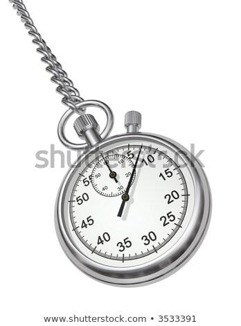 Terminar reloj de bolsillo 3d rojo texto Foto stock © tashatuvango