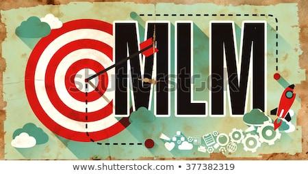 Mlm poster grunge ontwerp niveau marketing Stockfoto © tashatuvango