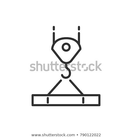 Stock fotó: állvány · nyaláb · szimbólum · stilizált · építkezés · üzlet