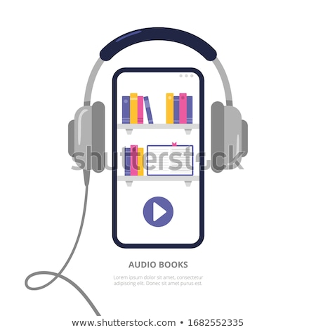 conceito · livros · fones · pode · branco · música - foto stock © restyler