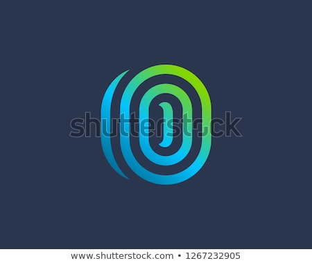 Stockfoto: Abstract · symbool · ovaal · brief · icon · ontwerp