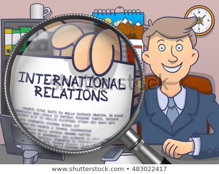 International Relations through Lens. Doodle Concept. Stock photo © tashatuvango