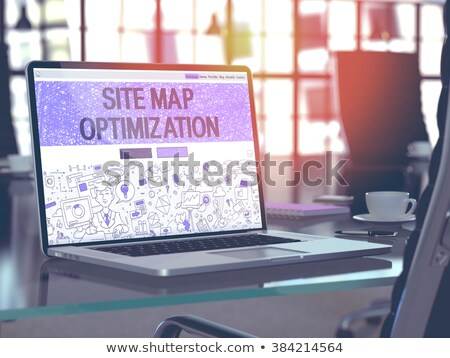 Site Map Optimization Concept on Laptop Screen. Stock photo © tashatuvango