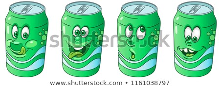 tin cola drink emotions characters collection set stock photo © rogistok
