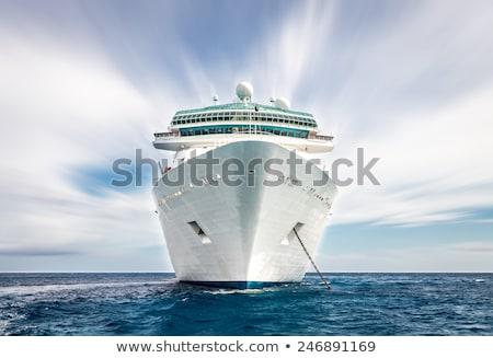Navio de cruzeiro mar laranja branco água segurança Foto stock © compuinfoto