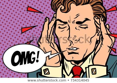 Omg patiënt pijn man hoofdpijn Stockfoto © rogistok