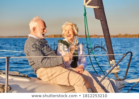 Couple on sailboat Stock photo © IS2