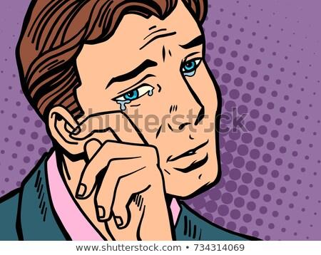 Komiks człowiek łzy cartoon pop art retro Zdjęcia stock © rogistok