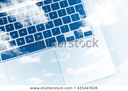 Geel · mlm · toetsenbord · 3D · slank - stockfoto © tashatuvango