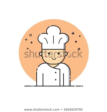 chef icon. cuisinier sign. chief-cooker symbol. Vector illustrat Stock photo © popaukropa