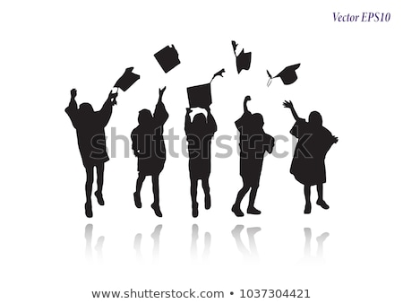 funny concept of education silhouette Stock photo © Olena