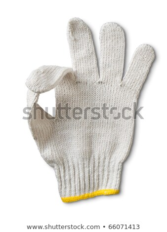 glove yarn Display a signal it is OK on white background  Stock photo © rufous